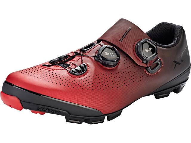 Shimano SH-XC7 Bike Shoes Wide Men, red